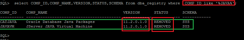 Dealing with INVALID status of Oracle database components after