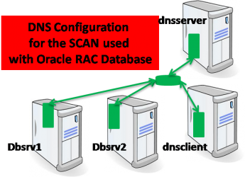 DNS configuration to use the SCAN with Oracle RAC Database