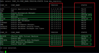 Dealing with INVALID status of Oracle database components after upgrade to 12c (12.1.0.2)
