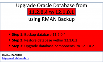 Upgrade Oracle database from 11.2.0.4 to 12c (12.1.0.2) using the RMAN backup