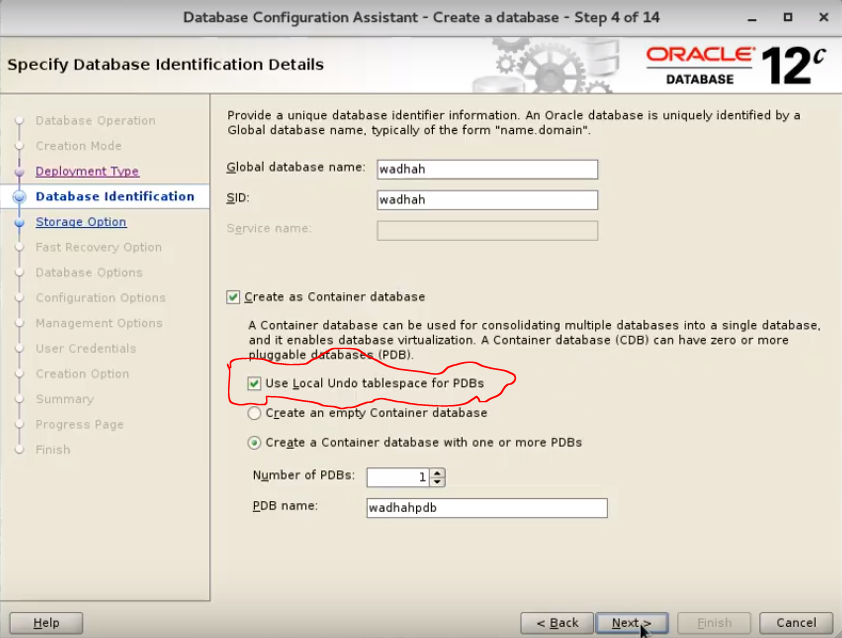 Disable Local undo tablespaces for PDBs 12c Release 2
